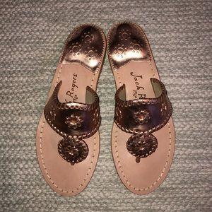 Jack Rogers Rose Gold West Hampton Sandals Sz 6.5